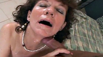 Creamy, Facial compilation, Mature lady