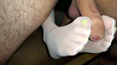 Footjob, Footjob nylon, Foot nylon