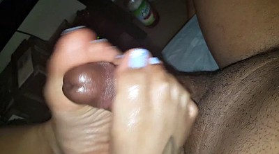 Footjob, Asian black