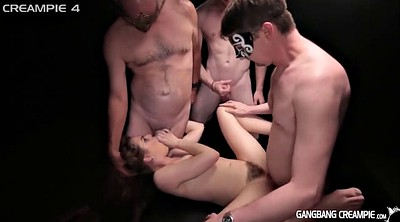 Creampie gangbang, Creampie-compilation, Creampie compilation