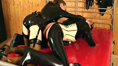 Latex lesbian, Mistress t, Latex fisting