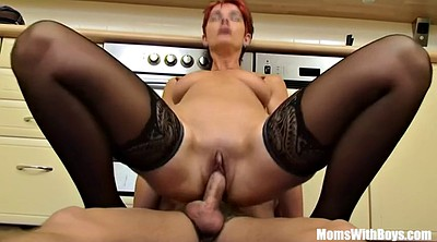 Kitchen, Mature in stockings, Mature stockings anal