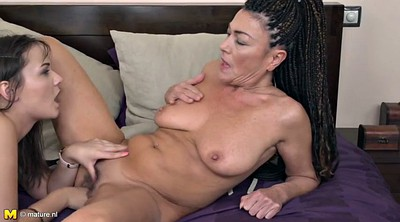 Mature lesbian, Young fuck