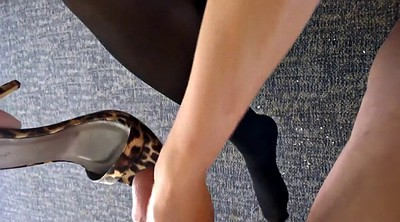 Shoe, Footing, Girls, Mature foot, Shoe cum, Girls foot