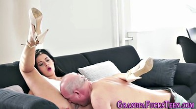 Old granny, Blowjob cum