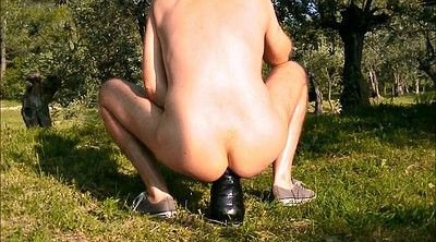 Fist, Fist anal, Bottle, Naked outdoor, Forest