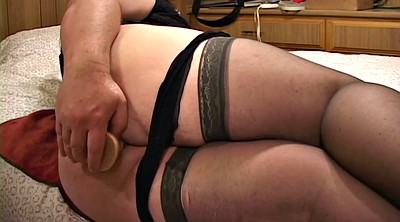Big dildo, Nylon ass, Bbw solo, Chubby anal, Solo stockings, Nylon anal