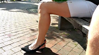 Shopping, Leggings, Leg, Upskirt hidden, Hot leg, Hidden cam