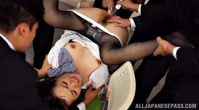 Asian mature, Mature gangbang