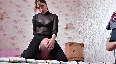 Girl slave, German femdom, Facesiting, Face sitting