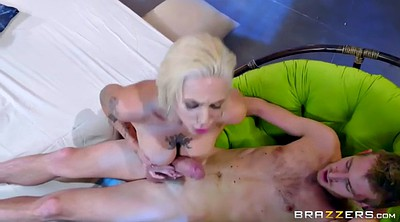 Footjob, Feet, Big tits, Harlow harrison