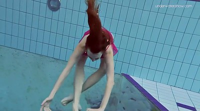 Hairy teen solo, Small teen solo, Underwater, Swim, Swimming, Redhead solo