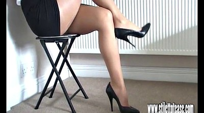 High heels, Foot tease, Long legs