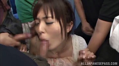 Asian bukkake, In bus, Bus gangbang, Asian bus