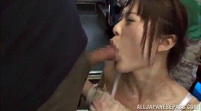 Bus, Asian gangbang, Panties, Asian bukkake, Work, Asian handjob