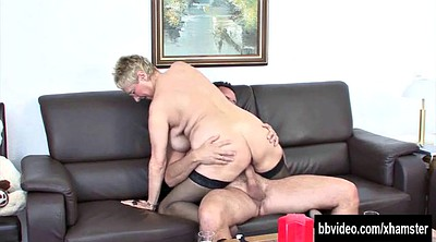 German mature, Matures, German tits, Blonde granny