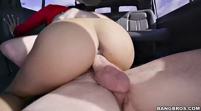 Flashing, Black girl, Bangbus, In car