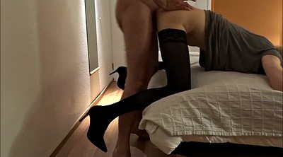 Old gay, Skinny stockings, Young stocking, Crossdresser