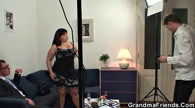 Wife threesome, Granny threesome, Busty wife, Busty granny, Wife swallows, Threesome wife