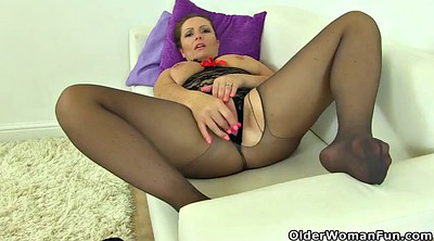 Mature pantyhose, Stop, Black pantyhose