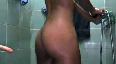 Black girl, Voyeur shower