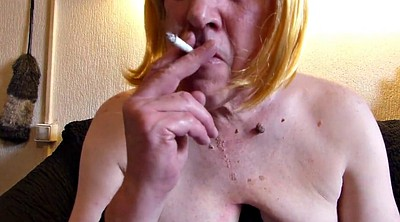 Mature masturbation, Smoke, Mature smoking, Mature gay