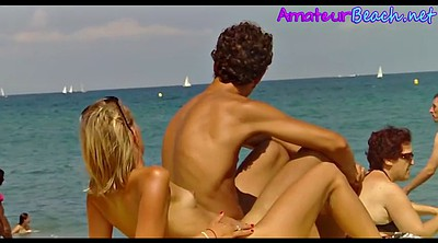 Nudist, Voyeur beach couple, Spy cam