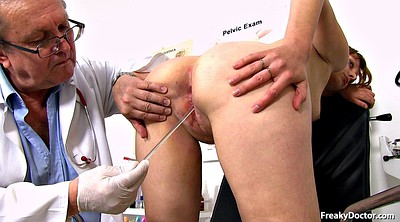 Gyno, Speculum, Old pussy, Old doctor