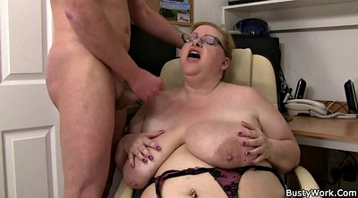 Glasses, Boss, Busty, Bbw glasses