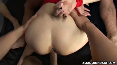 Asian creampie, Tied gangbang, Tied
