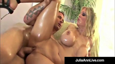 Julia ann, Lisa ann, Oil, Julia, Mature orgy, Group sex orgy