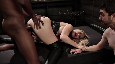 Leather, Mature cuckold, Interracial cuckold, Leather boots