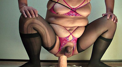 Gape, Ride dildo, Bbw toy, Monster dildo, Addiction