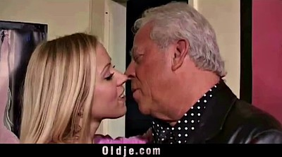Grandpa, Girl, Granny threesome, Granny blowjob, White hair, Vintage old young