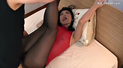 Black maid, Nylon foot, Japanese pantyhose, Japanese maid, Asian maid