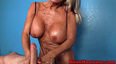 Mature massage, Wank, Mature handjob