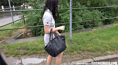 Czech public, Public czech, Outdoors, Forest, Czech blowjob