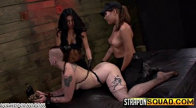 Punish, Two strapon, Two girls, Lesbian punishment