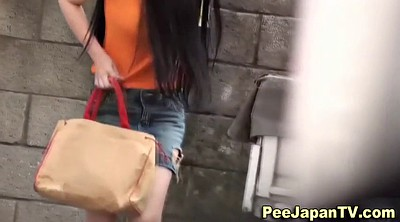 Japanese solo, Japanese outdoor, Asian public, Seen, Outdoor peeing, Solo japanese
