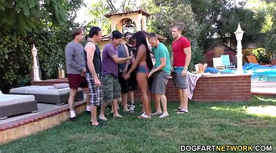 Interracial gangbang, Bukkake, Teen boobs