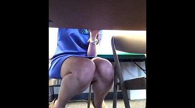 Voyeur, Under table, Under, Teacher upskirt