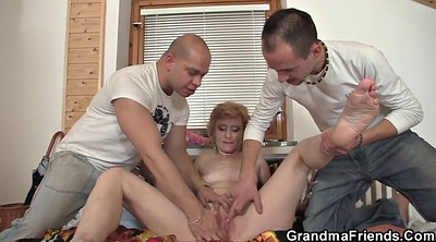 Mature wife, Granny threesome, Threesome wife, Old men