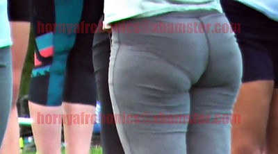 Booty, Yoga pants, Gray