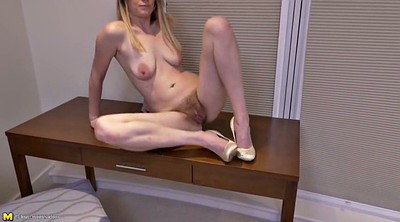 Milf, Hairy mature, Pussy, Real mother