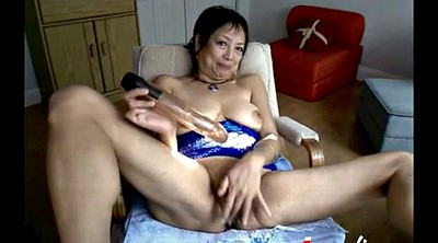 Mature, Mature webcam, Granny dildo masturbation, Asian granny
