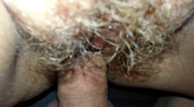 Footjob, Hairy wife, Foot in pussy