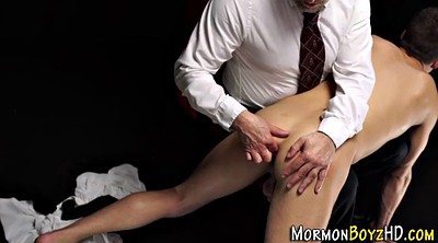 Spanked, Mormon, Gay uniform, Gay big ass