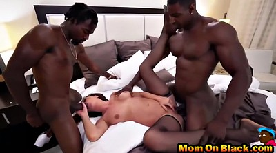 Black mom, Milf threesome