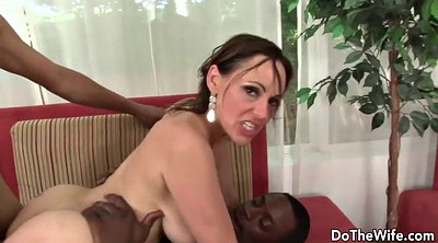 Cuckold creampie, White wife, Interracial cuckold