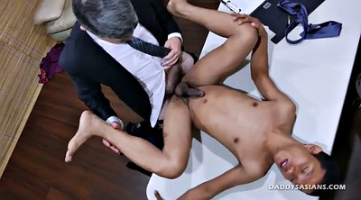 Dad, Young boy, Old couple, Asian daddy, Young old, Kissing and fucking